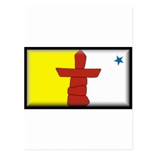 Bandera de Nunavut Tarjeta Postal