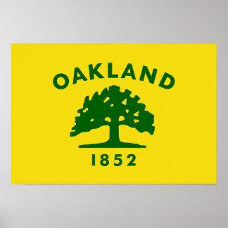 Bandera de Oakland, California Póster