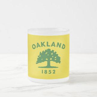 Bandera de Oakland, California Taza Cristal Mate