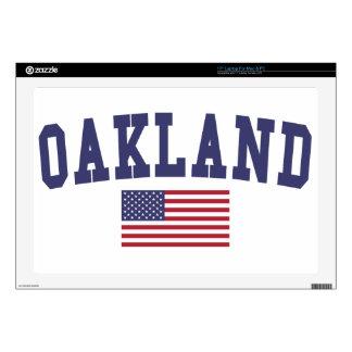 Bandera de Oakland los E.E.U.U. Calcomanía Para Portátil