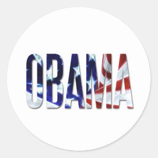 Bandera de Obama América Pegatinas