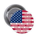 Bandera de Obama del voto Pin Redondo 5 Cm