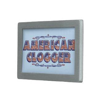 Bandera de obstrucción de baile americana de hebillas cinturon rectangulares