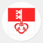 Bandera de Obwalden Pegatina Redonda