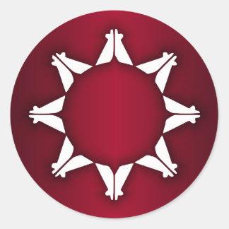 Bandera de Oglala Lakota Pegatina Redonda