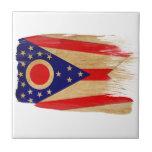 Bandera de Ohio Azulejo
