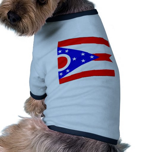 Bandera de Ohio Camiseta De Perrito