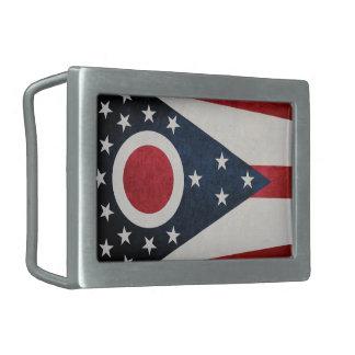 Bandera de Ohio Hebillas Cinturón Rectangulares