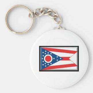 Bandera de Ohio Llavero Redondo Tipo Pin