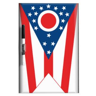 Bandera de Ohio Pizarras Blancas De Calidad
