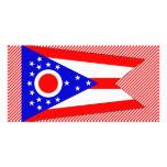 Bandera de Ohio Tarjetas Fotográficas