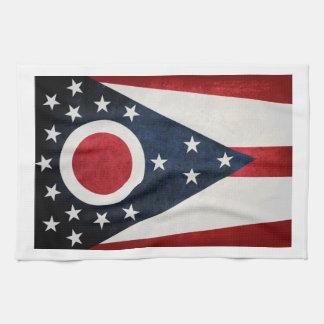 Bandera de Ohio Toallas De Mano
