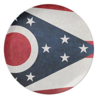 Bandera de Ohioan Platos De Comidas
