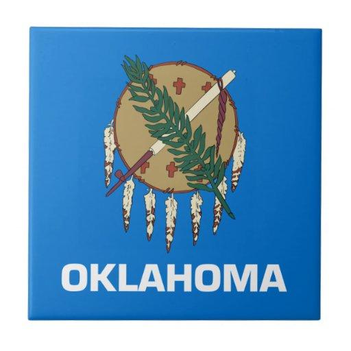 Bandera de Oklahoma Azulejos Ceramicos