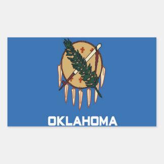 Bandera de Oklahoma Etiqueta