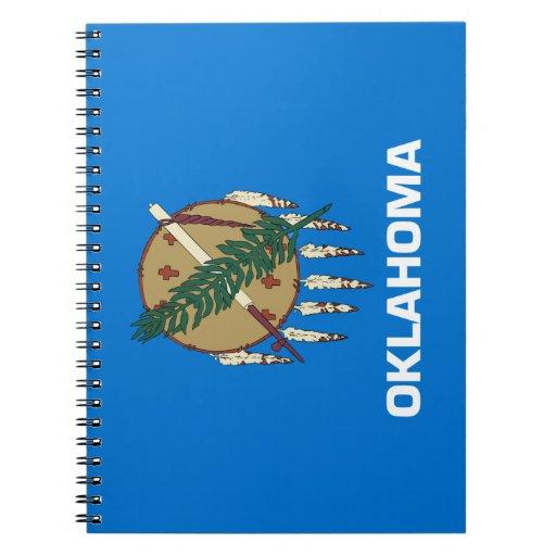 Bandera de Oklahoma Libro De Apuntes Con Espiral