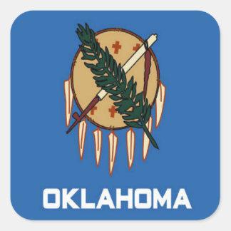 Bandera de Oklahoma Calcomanía Cuadradas Personalizada