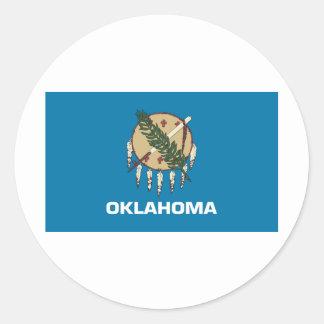 Bandera de Oklahoma Pegatina Redonda