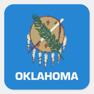 Bandera de Oklahoma Pegatina Cuadrada