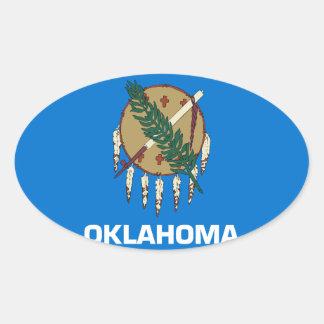 Bandera de Oklahoma Pegatina Ovalada