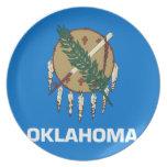 Bandera de Oklahoma Plato De Cena