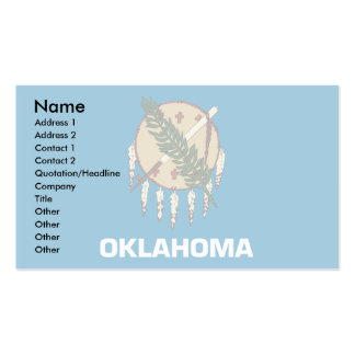 Bandera de Oklahoma Tarjetas De Visita