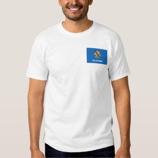 Bandera de Oklahoman + Camiseta del mapa Remeras