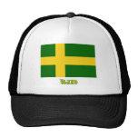 Bandera de Öland con el nombre (oficioso) Gorras