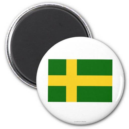 Bandera de Öland (oficiosa) Imán De Frigorífico