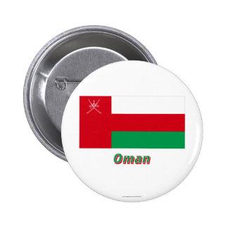Bandera de Omán con nombre Pins