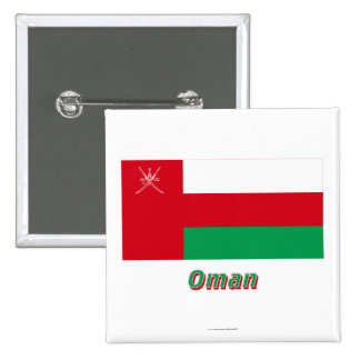 Bandera de Omán con nombre Pin