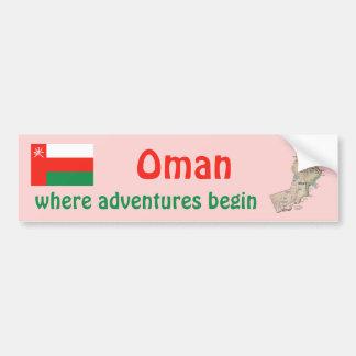 Bandera de Omán + Pegatina para el parachoques del Pegatina Para Auto