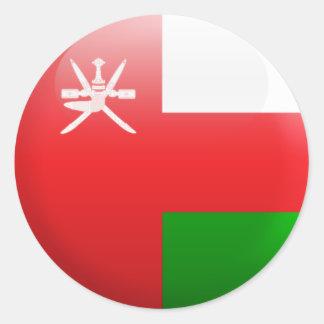 Bandera de Omán Pegatina Redonda