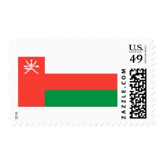 Bandera de Omán Sello Postal