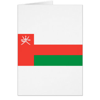Bandera de Omán Tarjeta De Felicitación