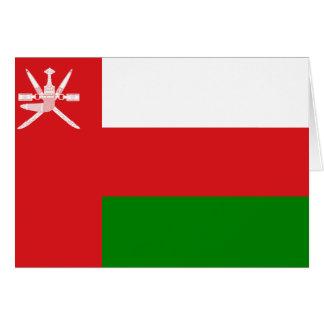 Bandera de Omán Tarjeta Pequeña
