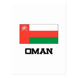 Bandera de Omán Tarjeta Postal