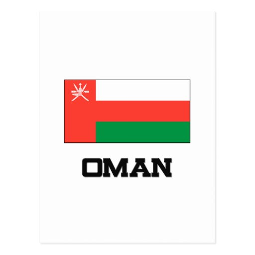 Bandera de Omán Tarjetas Postales