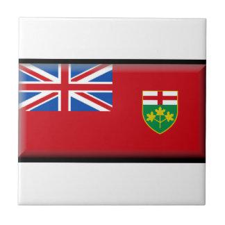 Bandera de Ontario (Canadá) Azulejos Cerámicos