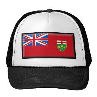 Bandera de Ontario Gorros Bordados