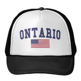 Bandera de Ontario los E.E.U.U. Gorro De Camionero