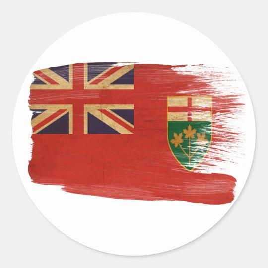 Bandera de Ontario Pegatina Redonda