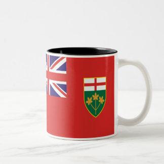 Bandera de Ontario Taza Dos Tonos