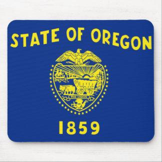 Bandera de Oregon Alfombrillas De Ratón