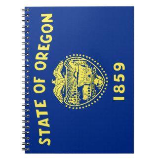 Bandera de Oregon Spiral Notebook