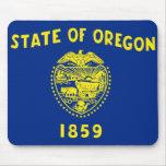 Bandera de Oregon Tapetes De Ratón