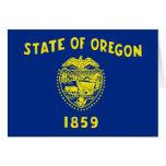 Bandera de Oregon Tarjeton