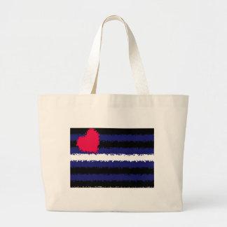 Bandera de orgullo de cuero abollada bolsas lienzo