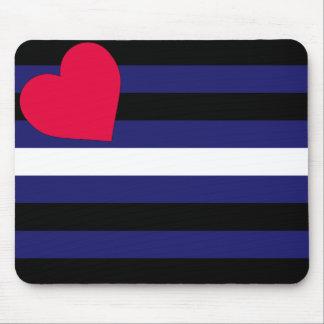 Bandera de orgullo de cuero Mousepad