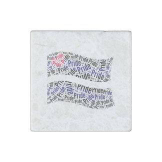 Bandera de orgullo de cuero - .png imán de piedra
